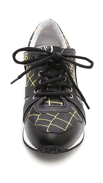 McQ - Alexander McQueen McQ Croc Embossed Sneakers