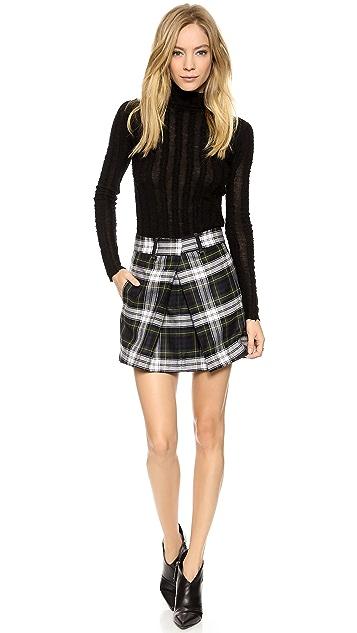 McQ - Alexander McQueen Front Pleat Skirt