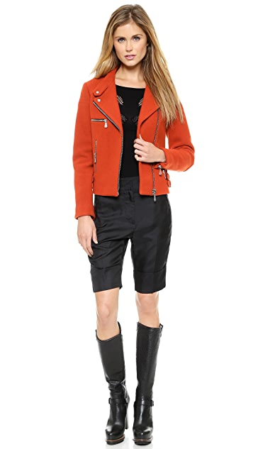 McQ - Alexander McQueen Cropped Biker Jacket