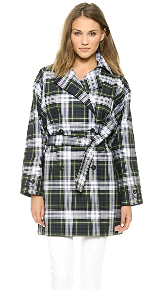 McQ - Alexander McQueen Plaid Trench Coat