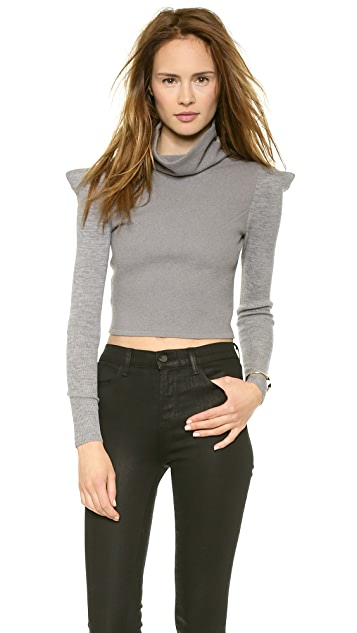 McQ - Alexander McQueen Cropped High Sweater
