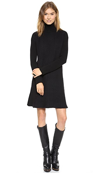 McQ - Alexander McQueen High Neck Sweater Dress