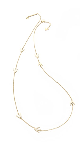 McQ - Alexander McQueen Asymmetric Swallow Necklace
