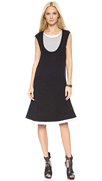 McQ - Alexander McQueen Layered Jersey Dress