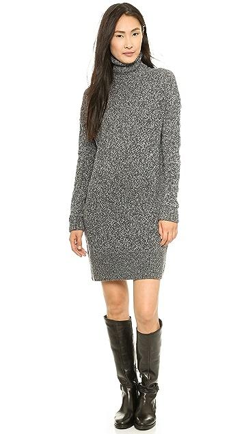McQ - Alexander McQueen Oversized Lambswool High Neck Dress