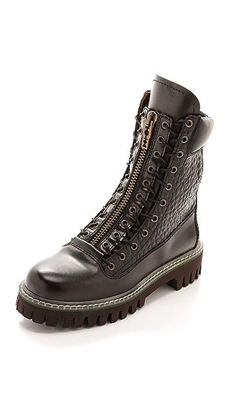 McQ - Alexander McQueen Tina Zip High Combat Boots