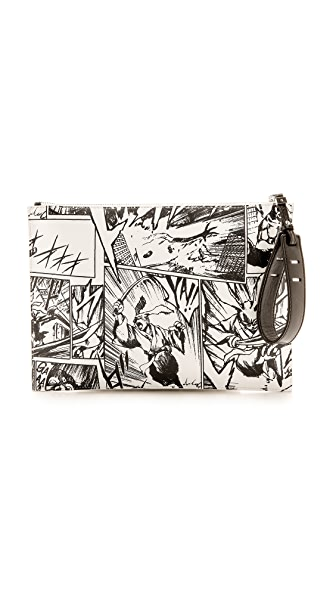 McQ - Alexander McQueen Printed Tech Clutch
