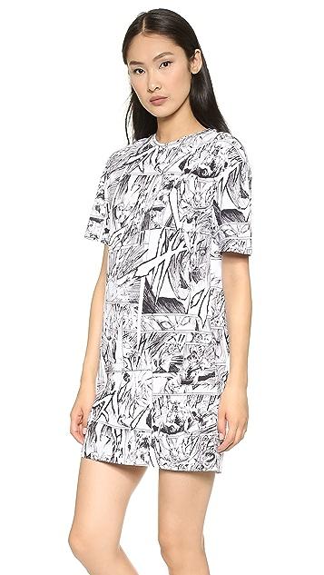 McQ - Alexander McQueen Manga Print Tee Dress