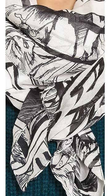 McQ - Alexander McQueen Manga Scarf