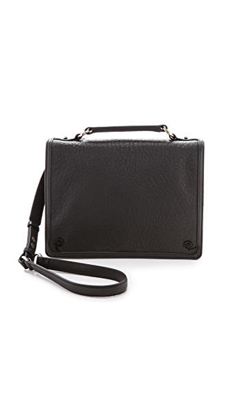 McQ - Alexander McQueen Bubble Leather Satchel