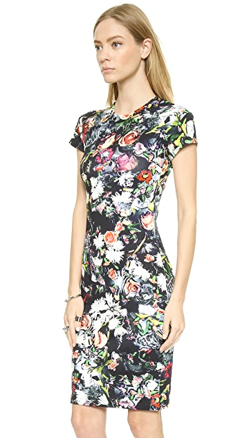 McQ - Alexander McQueen Long Body Con Floral Dress