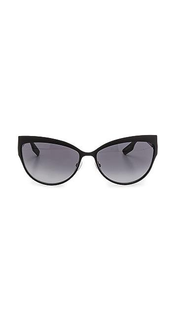 McQ - Alexander McQueen Metal Cat Eye Sunglasses