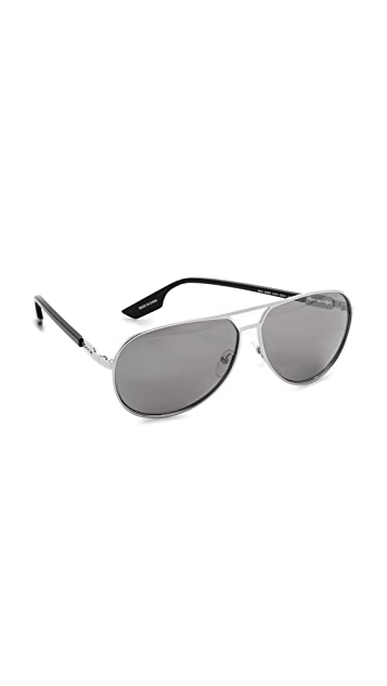 McQ - Alexander McQueen Metal Aviator Sunglasses