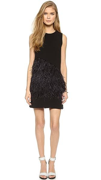 Платье со страусиными перьями купить