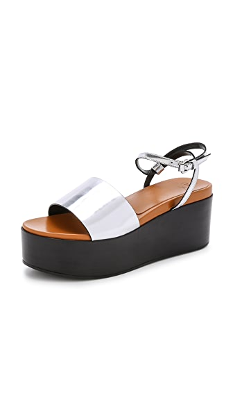 Shop McQ - Alexander McQueen online and buy Mcq Alexander Mcqueen Lotta Sandals Caramel/Silver shoes online