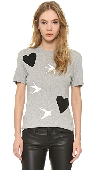 McQ - Alexander McQueen Heart and Bird Classic Tee