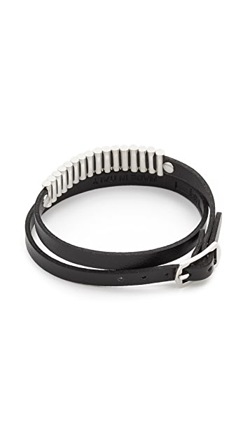 McQ - Alexander McQueen Mini Bullets Wrap Bracelet