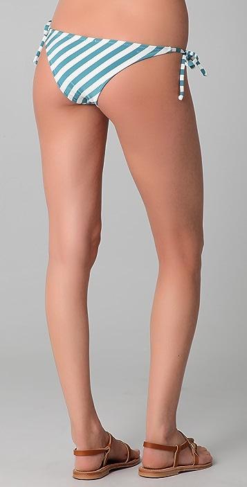 Made By Dawn Puka Stripe Bikini Bottoms