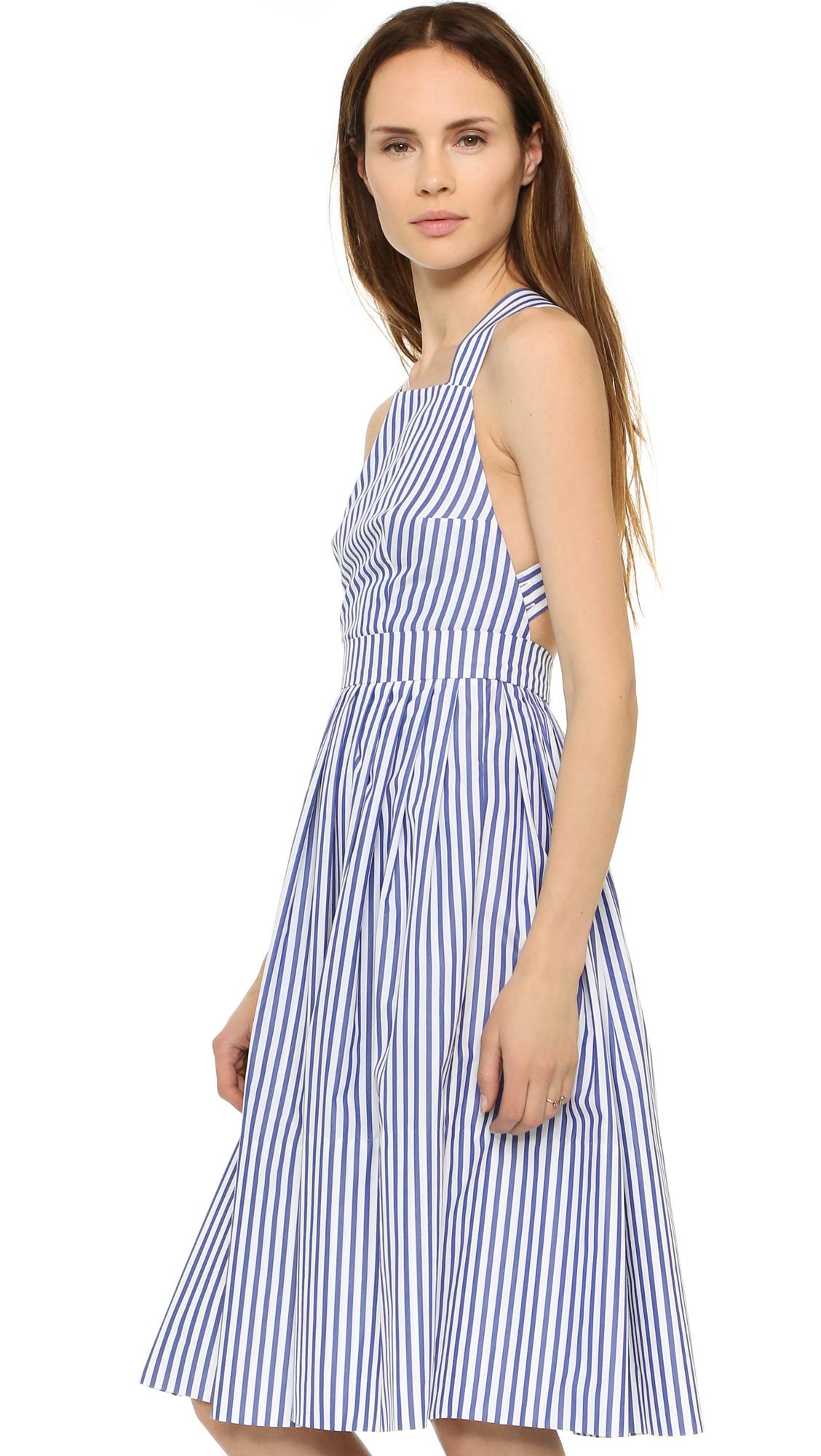 02e8e705392 MDS Stripes Crisscross Dress