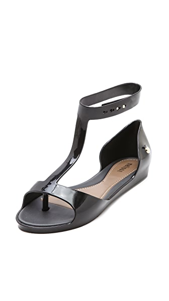 Melissa T Strap Flat Sandals