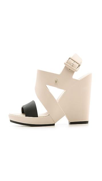 Melissa Melissa Flip Wedge Sandals