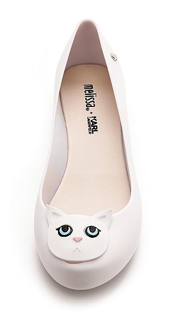 Melissa Melissa + Karl Lagerfeld Ultragirl Cat Flats