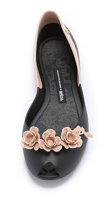 Melissa Flower Queen Alexandre Herchcovitch Flats