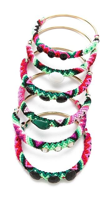 Mercedes Salazar Embellished Friendship Bangle Set