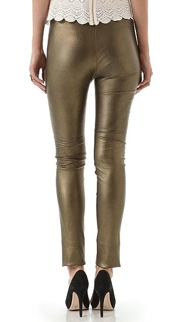 Mes Demoiselles Esther Metallic Leather Pants