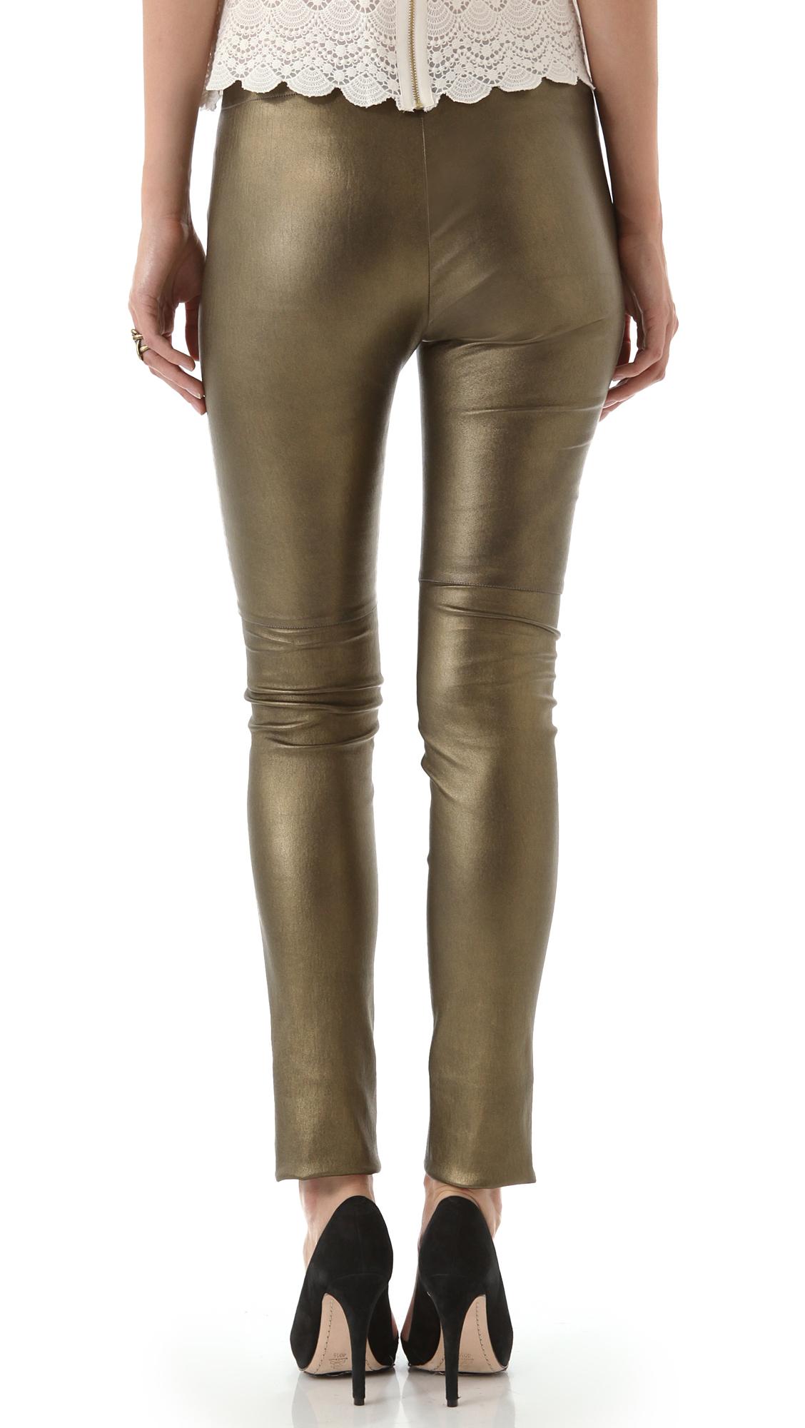 3d33b91251c06c Mes Demoiselles Esther Metallic Leather Pants   SHOPBOP