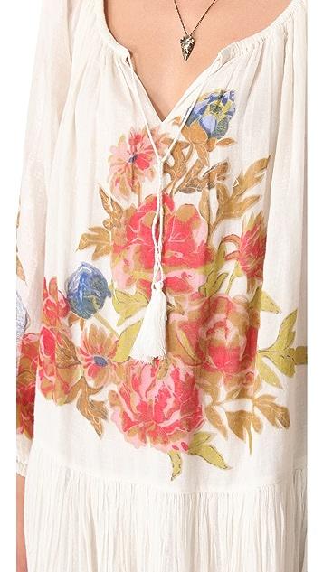 Mes Demoiselles Rose Long Sleeve Printed Dress