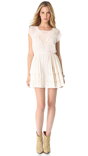 Mes Demoiselles Pivoine Embroidered Dress