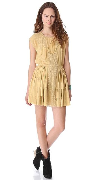 Mes Demoiselles Pivoine Embroidered Dress