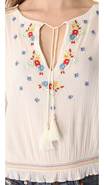 Mes Demoiselles Martina Embroidered Top