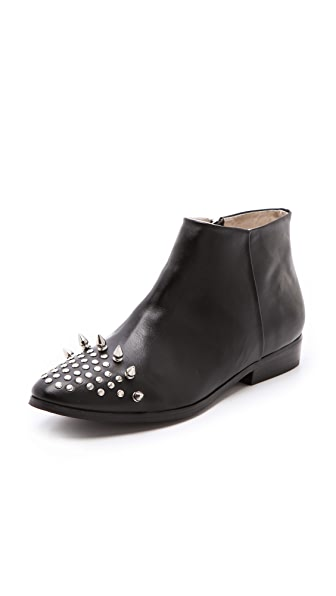 Messeca New York Studded Cap Toe Booties