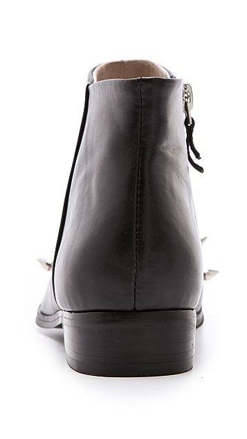 Messeca New York Studded Cap Toe Booties