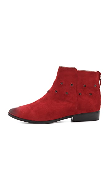 Messeca New York Studded Suede Ankle Booties