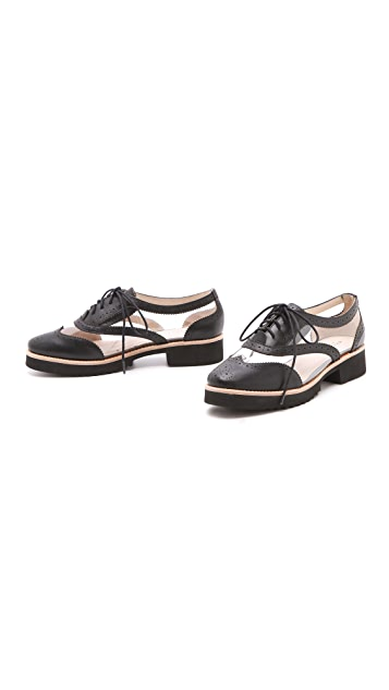 Messeca New York Max Clear Inset Oxfords