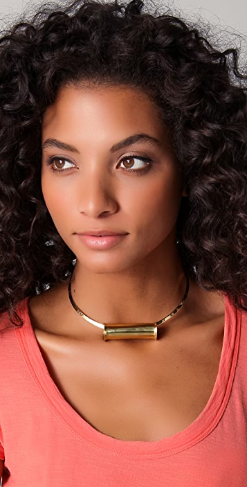 Mettle Concave Cylinder Pendant Choker
