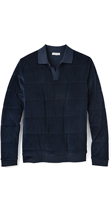 Editions M.R. Velour Quilted Polo