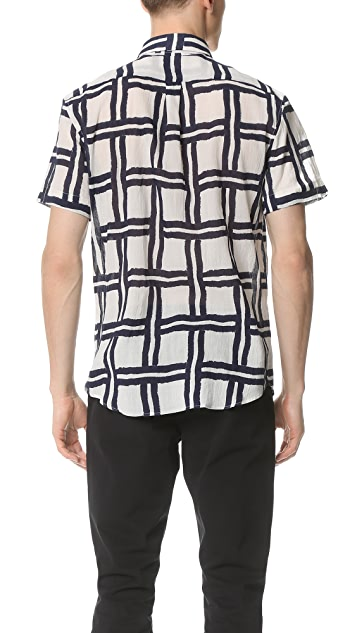 Editions M.R. Short Sleeve Maxi Check Shirt