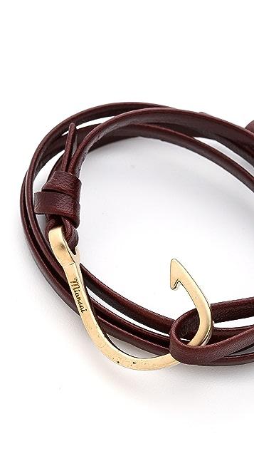 Miansai Hooked Leather Wrap Bracelet