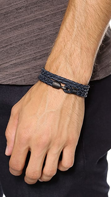 Miansai Woven Wrap Bracelet with Noir Hook