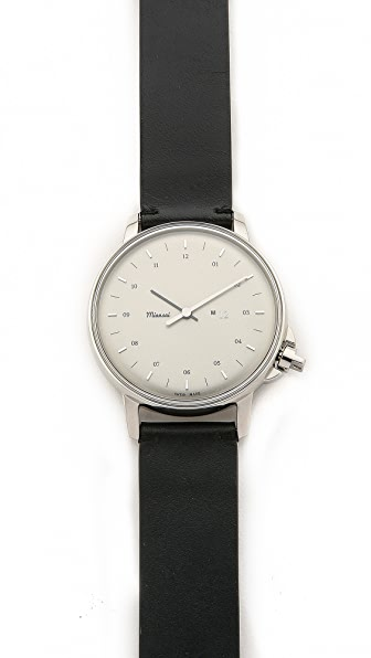 Miansai M12 Stainless on Leather Watch