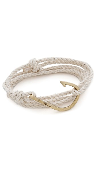 Miansai Brass Hook Rope Bracelet
