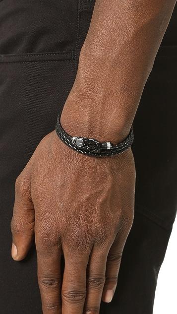Miansai Splice Leather Wrap Bracelet