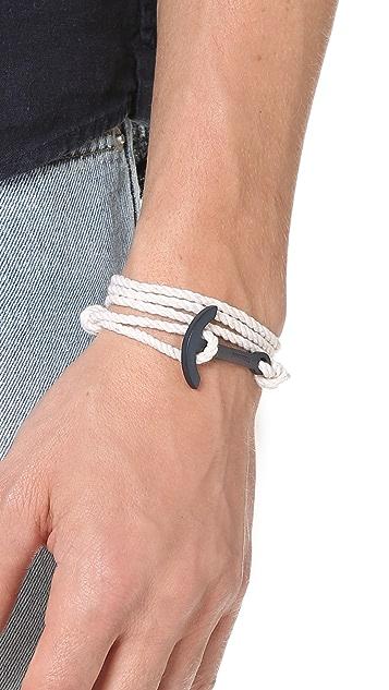 Miansai Navy Blue Modern Anchor Rope Bracelet