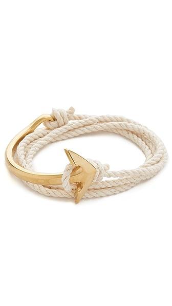Miansai Brass Half Anchor Cuff Rope Bracelet