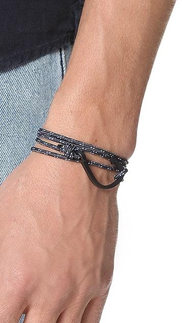 Miansai Hook on Rope Noir Bracelet