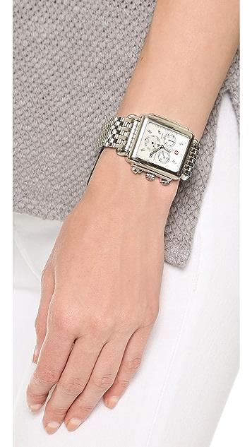 MICHELE Deco XL 20mm 7 Link Bracelet Watch Strap